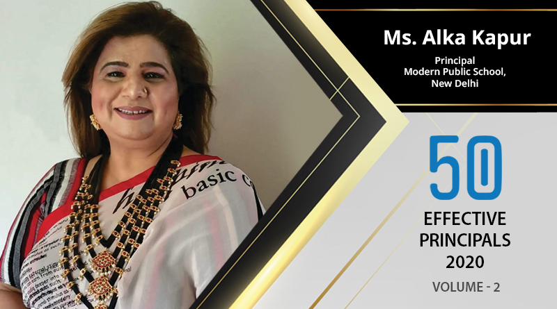 Effective Principals 2020 |Ms. Alka Kapur, Principal of Modern Public School, New Delhi