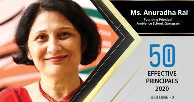Effective Principals 2020 | Ms. Anuradha Rai, Founding Principal of Ambience school