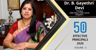 Effective Principals 2020 | Dr. B. Gayethri Devi, Principal of Little Flower Public School
