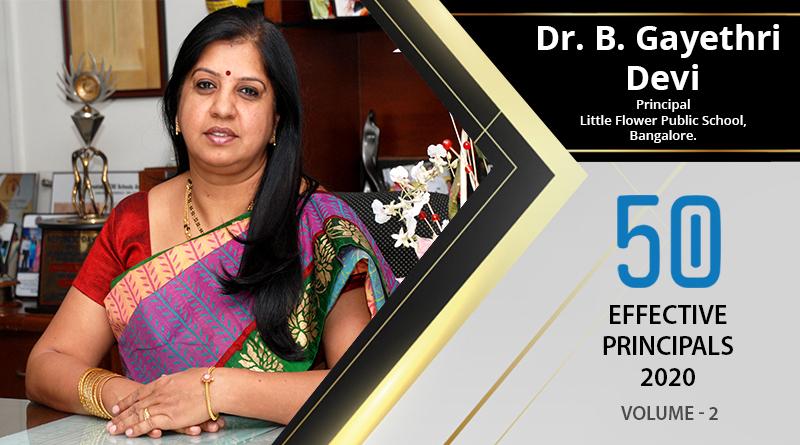 Effective Principals 2020   Dr. B. Gayethri Devi, Principal of Little Flower Public School