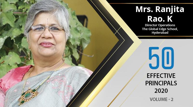 Effective Principals 2020   Mrs. Ranjita Rao. K, Director Operation of The Global Edge School