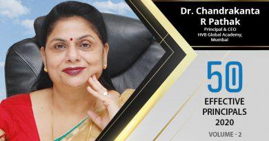 Effective Principals 2020 | Dr. Chandrakanta R Pathak , Principal & CEO of HVB Global Academy