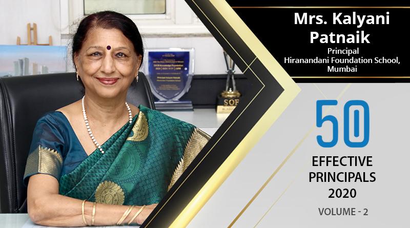 Effective Principals 2020   Mrs. Kalyani Patnaik, Principal of Hiranandani Foundation School