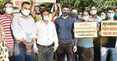 Parents protest against private school, demand fee waiver