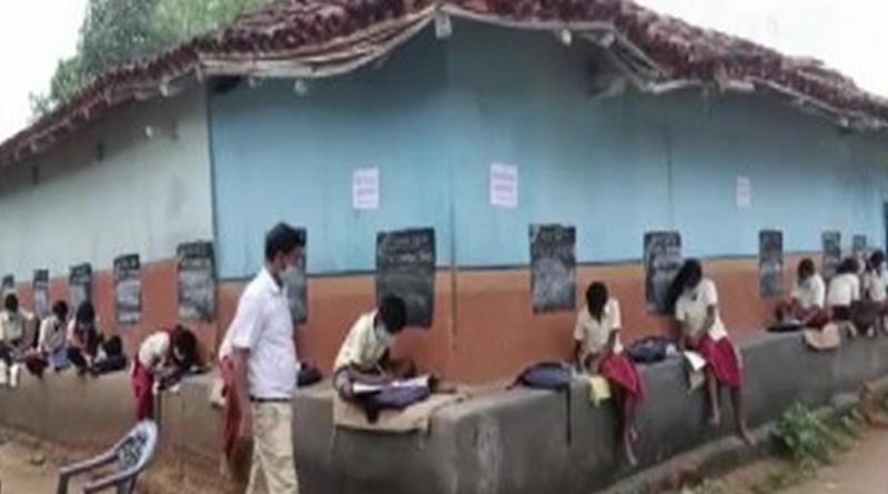Teachers in Jharkhand's Dumka turn village into classroom