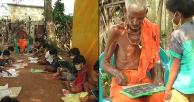 This man has been teaching children under a tree without fees for over 75 years in Odisha's Jajpur