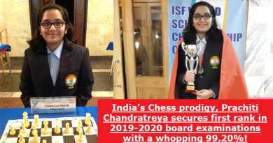 India's Chess prodigy, Prachiti Chandratreya secures first rank in 2019-2020 board examinations with a whopping 99.20%!
