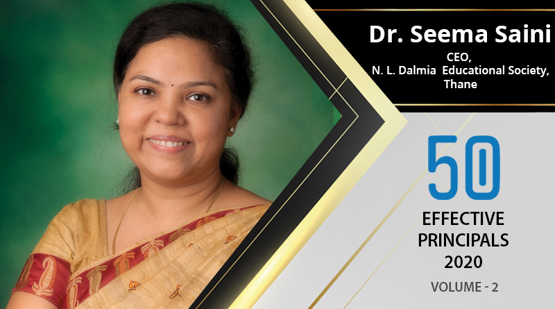 Effective Principals 2020 | Dr. Seema Saini, CEO of N. L. Dalmia Educational Society