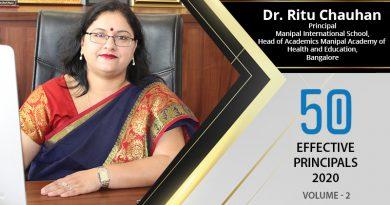 Effective Principals 2020   Dr. Ritu Chauhan, Principal of Manipal International School