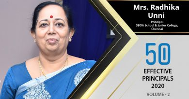 Effective Principals 2020   Mrs. Radhika Unni, Principal of SBOA School & Junior College