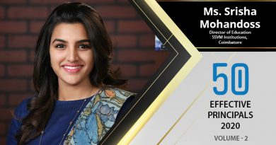 Effective Principals 2020   Ms. Srisha Mohandoss, Director of Education SSVM Institutions