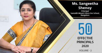 Effective Principals 2020   Ms. Sangeetha Shenoy, Principal of Samsidh Mount Litera Zee School