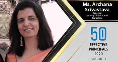Effective Principals 2020   Ms. Archana Srivastava, Principal of Spurthy Global School