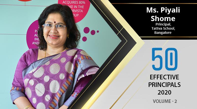 Effective Principals 2020 | Ms. Piyali Shome, Principal of Tattva School