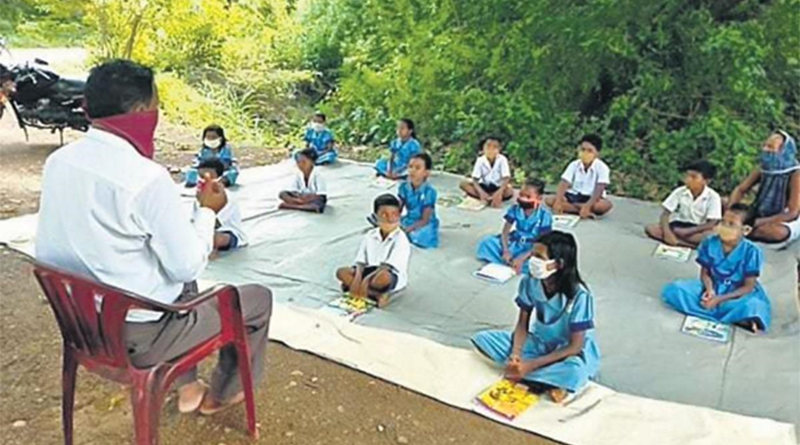 Classes under trees; lessons on WhatsApp, TV as schools go on in MP