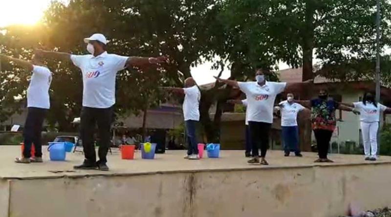 A modified nursery rhyme helps school students learn social distancing in Goa