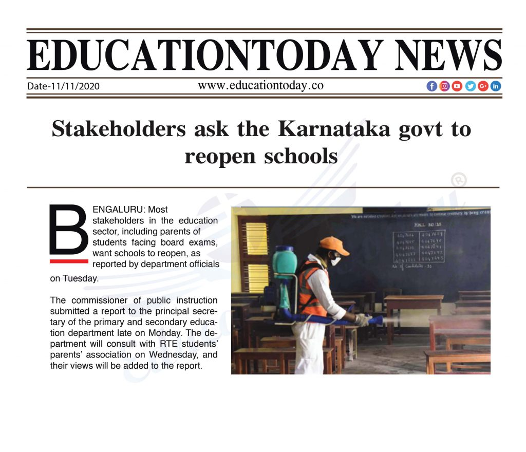 Stakeholders ask the Karnataka govt to reopen schools