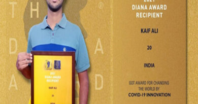 JMI student gets the Diana Award 2021 for Covid-19 innovation