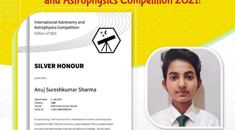 DELHI PUBLIC SCHOOL NASHIK Astronomy and Astrophysics Competition 2021