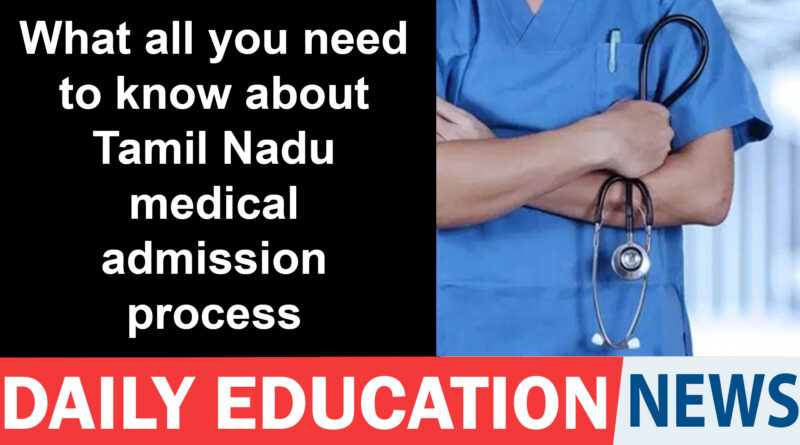 NEET UG: All you need to know about Tamil Nadu medical admission process and cut-off – Education News India