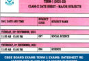 CBSE Board Exams Term-1 exams: Datesheet released for Class 10, 12 minor subjects