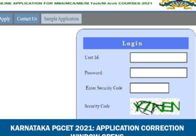 Karnataka PGCET 2021: Application Correction Window Opens